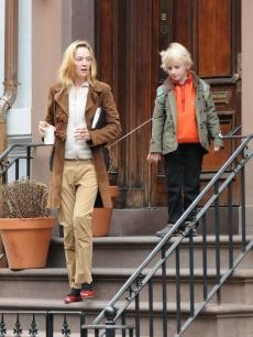Uma Thurman and son Levon Hawke head out for the day in New York