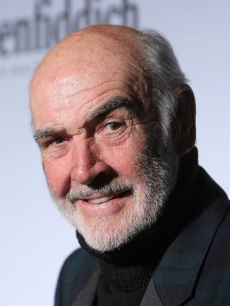 Sean Connery smiles at the &#8216;Dressed To Kilt&#8217; charity fashion show in New York