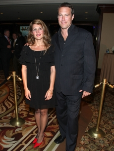 Nia Vardalos and John Corbett arrive at the National Multiple Sclerosis Society's 34th Annual Dinner of Champions held at the Hyatt Regency Century Plaza Hotel on September 25, 2008 in Los Angeles, California