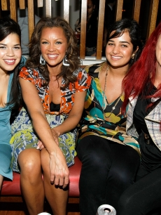 America Ferrera, Vanessa Williams, Tamara Hamdan and Patricia Fields attend the celebration for cover girl America Ferrera, avid supporter of peace games hosted by Gotham Magazine in NYC
