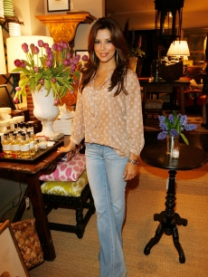 Eva Longoria Parker attends the Lake Bell And Nathan Turner Host Dinner For Designer Lyn Devon on April 6, 2009 in West Hollywood, California
