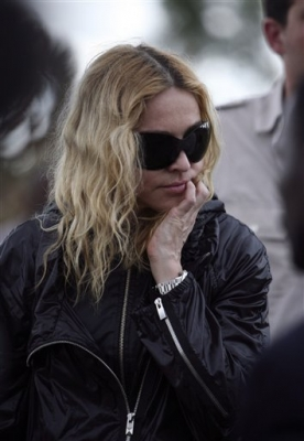Madonna during her visit to Salaza village near Lilongwe, Malawi, Friday April 3 2009