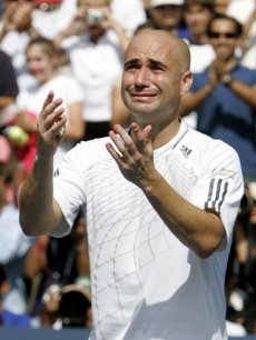 Hope you put sunscreen on Andre Agassi
