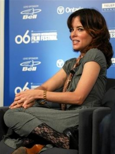 Parker Posey during a press conference at the Toronto Film festival