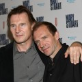 Liam Neeson and Ralph Fiennes at the opening night of &#8216;Mary Stuart&#8217; in New York
