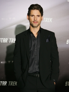 'Star Trek' villain Eric Bana smiles at the film's world premiere in Sydney, Australia