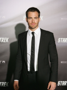 Captain Kirk himself, Chris Pine, strikes a pose at the 'Star Trek' world premiere in Sydney, Australia