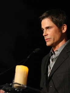 Rob Lowe speaks during the Hollywood Entertainment Museum's Hollywood Legacy Awards XI held at the Esquire House Hollywood Hills on November 11, 2008