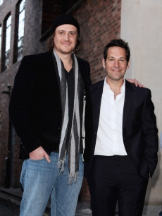 Jason Segel and Paul Rudd arrive for the VIP screening of 'I Love You Man' at the Soho Hotel on April 8, 2009 in London, England