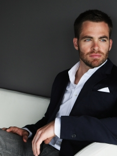 A pensive look from Chris Pine before the 'Star Trek' premiere in Sydney