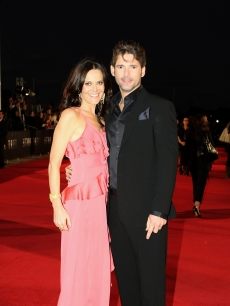 Eric Bana, who plays Nero, arrives with his wife Rebecca Gleeson at the World Premiere of J.J. Abrams's 'Star Trek'