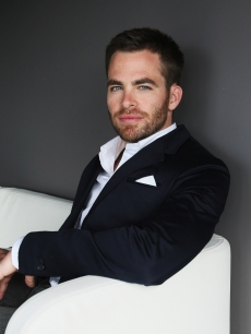 Chris Pine relaxes on a couch before the 'Star Trek' Sydney premiere