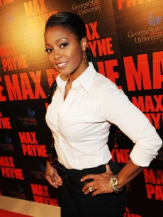 Keisha Knight-Pulliam attends the Max Payne Red Carpet Screening Featuring Chris 'Ludacris' Bridges at Rialto Center For The Arts on October 16, 2008 in Atlanta