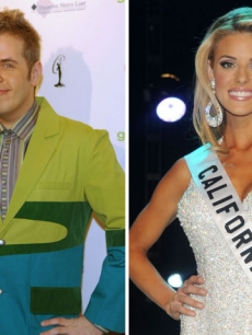 Perez Hilton and Miss California Carrie Prejean