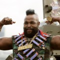 Mr T plays up to the media during a promotional tour for Snickers at the Olympic Park Precinct on July 23, 2008