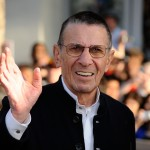 Leonard Nimoy arrives at the Hollywood premiere of 'Star Trek'