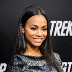 Zoe Saldana shines at the Hollywood premiere of 'Star Trek'