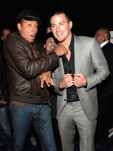 Terrence Howard and Channing Tatum play it up for the camera at the NYC 'Fighting' premiere, April 20, 2009