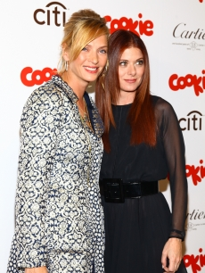 Uma Thurman and Debra Messing attend the 3rd Annual Smart Cookie Awards presented by Cookie Magazine at Frederick P. Rose Hall, Jazz at Lincoln Center in New York City