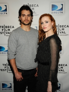 Henry Cavill and Evan Rachel Wood vistit the DIRECTV Tribeca Press Center on April 22, 2009 in New York City