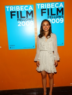 Natalie Portman attends the TFI Film Fellows welcome dinner during the 2009 Tribeca Film Festival at the Tribeca Cinemas on April 21, 2009 in New York City