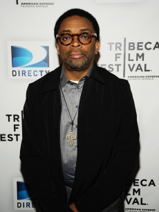 Director Spike Lee visits the DIRECTV Tribeca Press Center on April 22, 2009