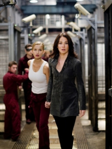 Tahyna Tozzi as Emma Frost and Lynn Collins as Silverfox in 'X-Men Origins - Wolverine'