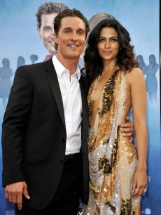Matthew McConaughey and model Camila Alves arrive at the premiere of Warner Bros. 'Ghosts Of Girlfriends Past' held at Grauman's Chinese Theatre on April 27, 2009 in Hollywood