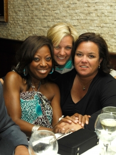 Star Jones, Kelli O'Donnell and Rosie O'Donnell attend the 2009 Passing It On Benefit after party at Tony DiNapoli's on April 27, 2009 in New York City