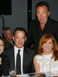 Rita Wilson, Tom Hanks, Bruce Springsteen and Patti Scialfa attend the Film Society of Lincoln Center event that honored Tom Hanks with the Chaplin Award