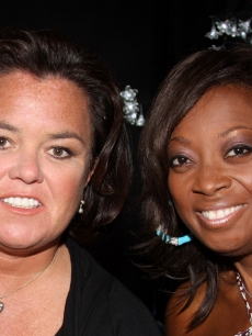 Rosie O'Donnell and Star Jones pose at the 2009 Passing It On Gala to benefit Rosie's Broadway Kids at the New World Stages on April 27, 2009