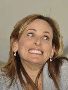 Marlee Matlin shows off her pearly whites at the 14th Annual Los Angeles Times Festival of Books