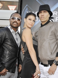 apl.de.ap, Fergie and Taboo of the Black-eyed Peas support bandmate will.i.am. at the 'Wolverine' premiere in LA