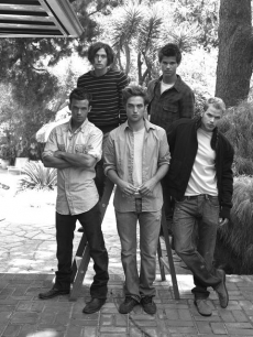 Jackson Rathbone, Taylor Lautner, Cam Gigandet, Robert Pattinson, and Kellan Lutz (from top left to bottom right)