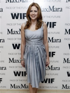 &#8216;Office&#8217; star Jenna Fischer arrives at a reception honoring Elizabeth Banks as Women In Film&#8217;s MaxMara &#8216;Face of the Future&#8217; in West Hollywood