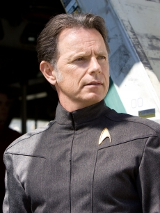 Bruce Greenwood in a scene for Star Trek