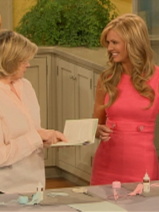 Nancy O'Dell on Martha Stewart