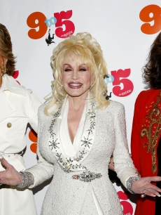 Jane Fonda, Dolly Parton and Lily Tomlin attend the opening night of '9 To 5: The Musical' on Broadway at the Marriott Marquis Theatre on April 30, 2009 in New York City