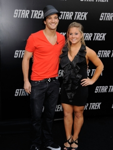 'DWTS' stars Mark Ballas Jr. and Shawn Johnson step out at the 'Star Trek' premiere in Hollywood