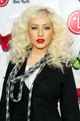 Christina Aguilera arrives at LG Rumorous Night with Heidi Klum in LA