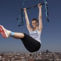 Bar Refaeli launches Reebok&#8217;s and Cirque du Soleils revolutionary new workout for women, &#8216;Jukari Fit to Fly&#8217; on May 6, 2009 in Madrid, Spain