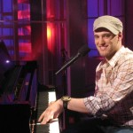 Matt Giraud takes to the piano on the Access Hollywood set, May 1, 2009
