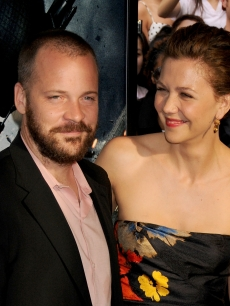 Peter Sarsgaard and Actress Maggie Gyllenhaal arrive at 'The Dark Knight' premiere at the AMC Loews Lincoln Square theater on July 14, 2008 in New York City