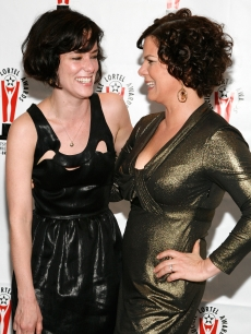 Parker Posey and actress Marcia Gay Harden attend the 2009 Lucille Lortel Awards at the Marriott Marquis Broadway Ballroom on May 3, 2009 in New York City