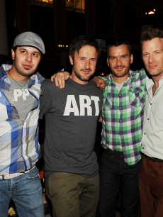 Navin Marang, David Arquette, Balthazar Getty and Thomas Jane at TAO Asian Bistro and Nightclub at the Venetian