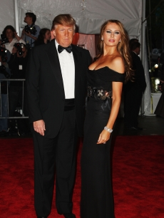 Donald Trump and Melania Trump attend 'The Model as Muse: Embodying Fashion' Costume Institute Gala at The Metropolitan Museum of Art on May 4, 2009 in New York City