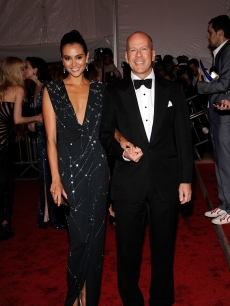 Emma Heming and Bruce Willis attend 'The Model as Muse: Embodying Fashion' Costume Institute Gala at The Metropolitan Museum of Art on May 4, 2009 in New York City