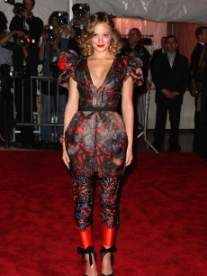 Leighton Meester attends 'The Model as Muse: Embodying Fashion' Costume Institute Gala