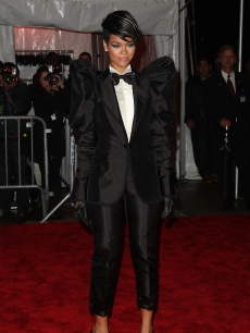 Rihanna attends 'The Model as Muse: Embodying Fashion' Costume Institute Gala at The Metropolitan Museum of Art on May 4, 2009 in New York City