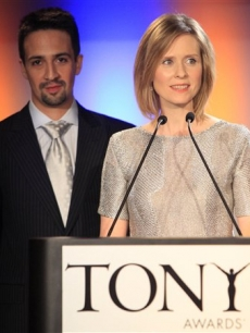 Lin-Manuel Miranda and Cynthia Nixon announce the nominations for the Broadway&#8217;s 2009 Antoinette Perry &#8216;Tony&#8217; Awards, in New York